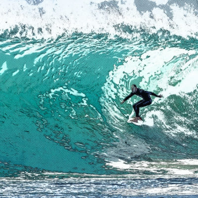 Tableau comics – Surfeur